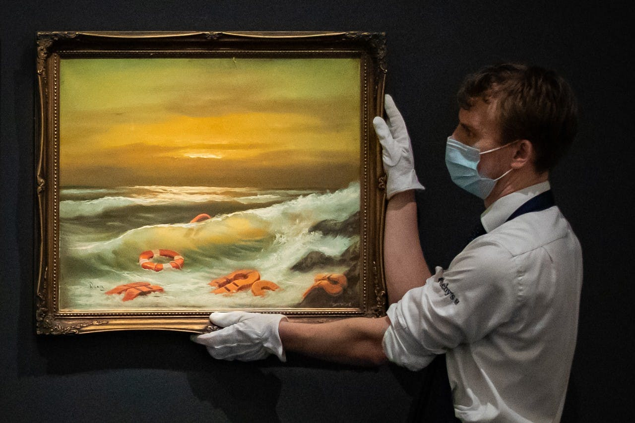 BANKSY'S MEDITERRANEAN SEA VIEW TRIPTYCH SOLD FOR £2.2M GBP