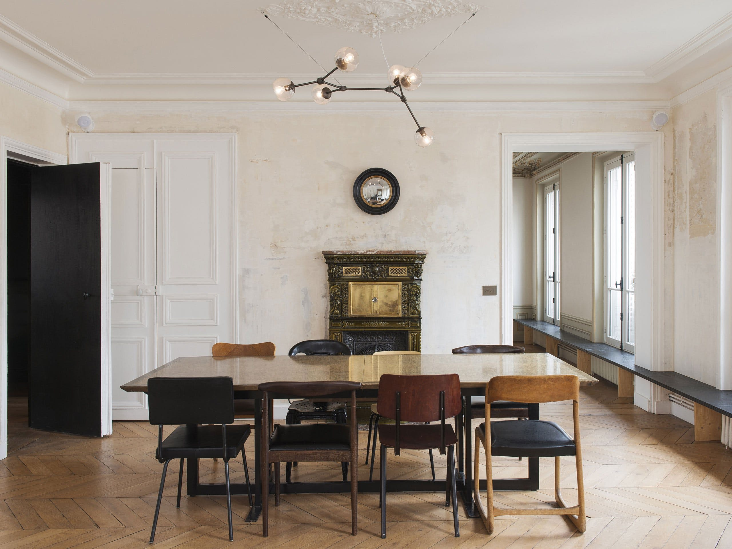 Renovated Parisian Apartment by Diego Delgado-Elias