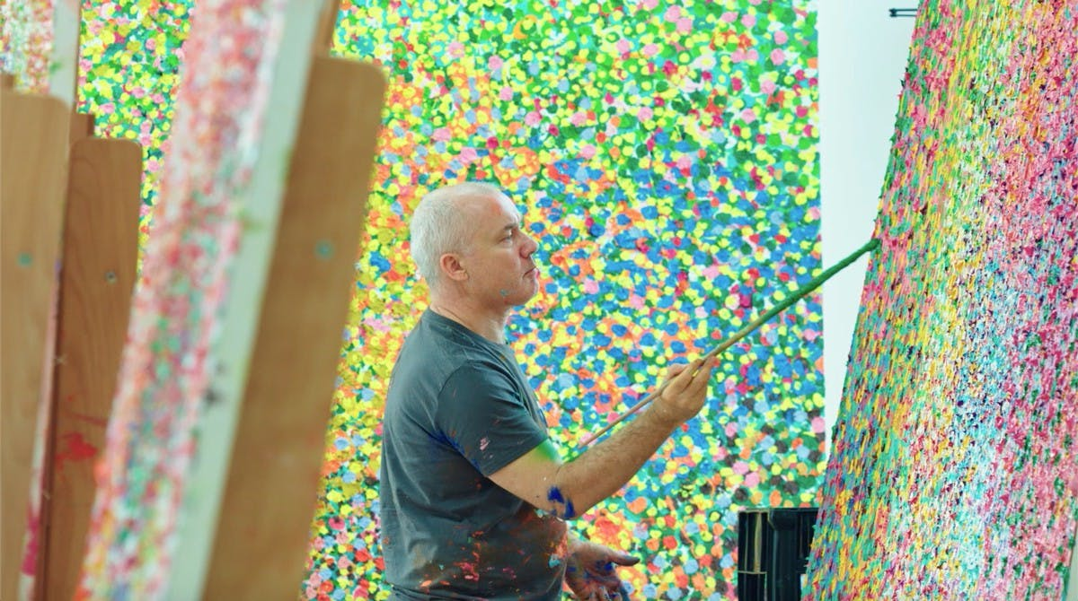 GAGOSIAN: VEIL OF HIDDEN MEANING BY DAMIEN HIRST