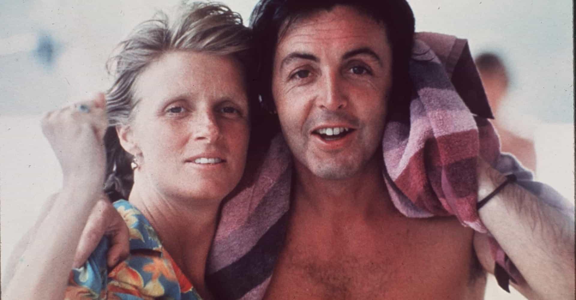 Linda and Paul McCartney.
