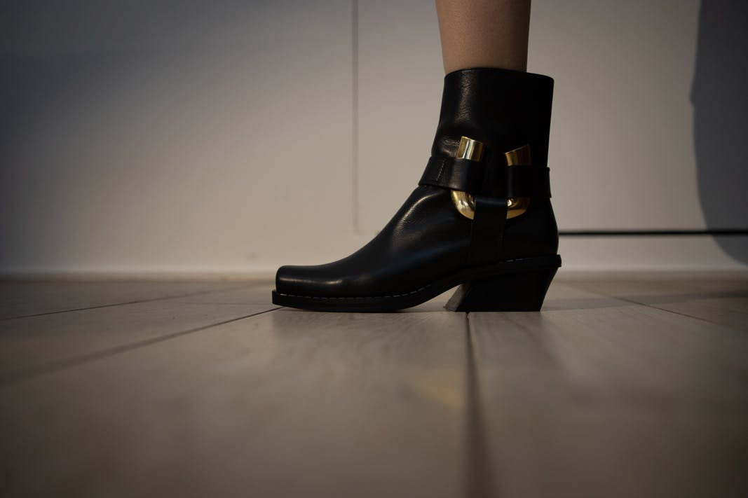 proenza schouler fw20 black leather ankle boots
