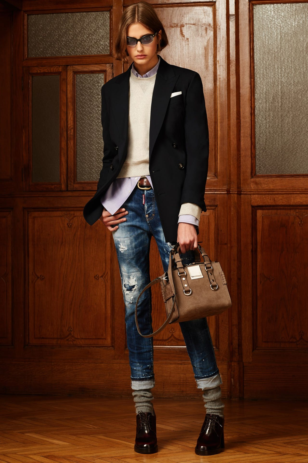 dsquared2 pre fall milan fashion runway backstage pre order showroom trunk show womenswear blazer denim