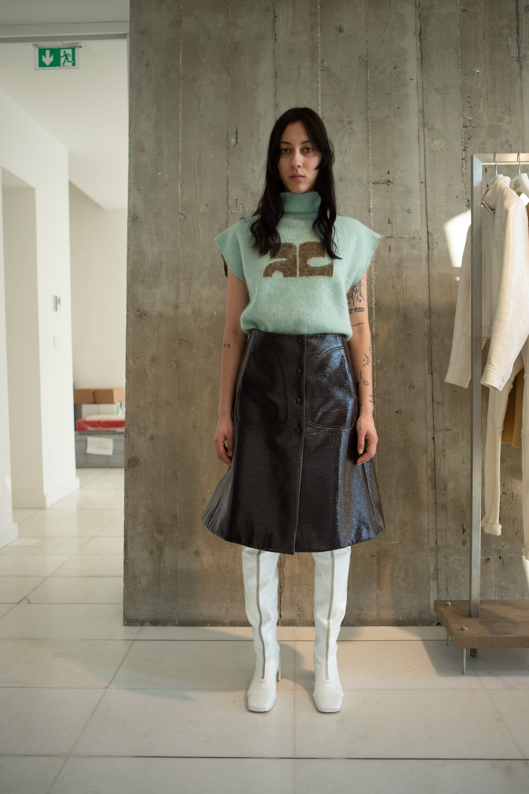 courreges fall winter 2020 runway fashion show backstage womenswear showroom pre order trunk show paris