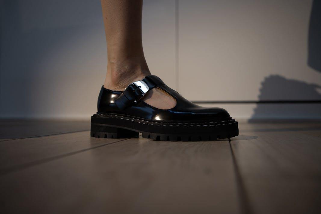 proenza schouler fw20 buckle strap shoe