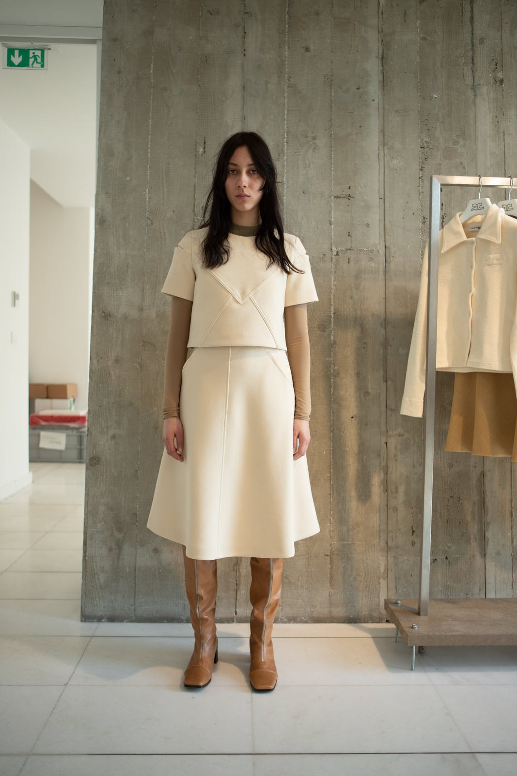 courreges fall winter 2020 runway show backstage womenswear showroom pre order trunk show paris