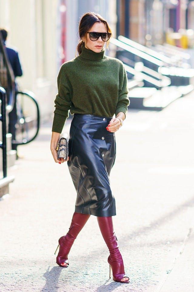 Victoria Beckham wearing heels