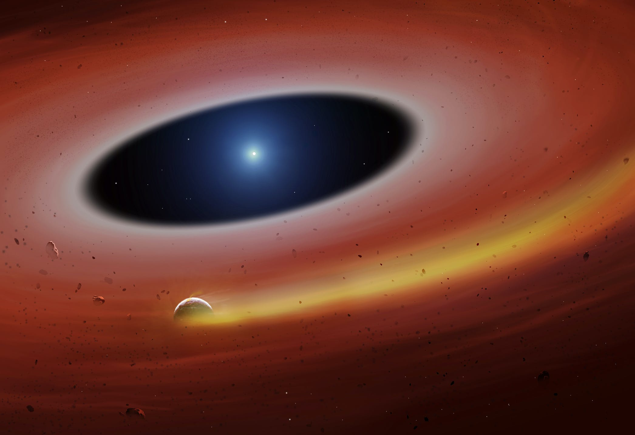 A HEAVY-METAL PLANET ORBITING A DEAD STAR CAN PREDICT THE END OF OUR WORLD