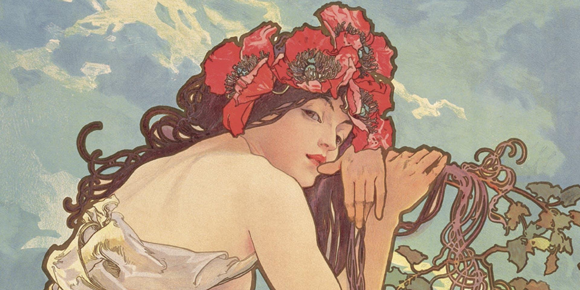 Alphonse Mucha's Art Nouveau Women