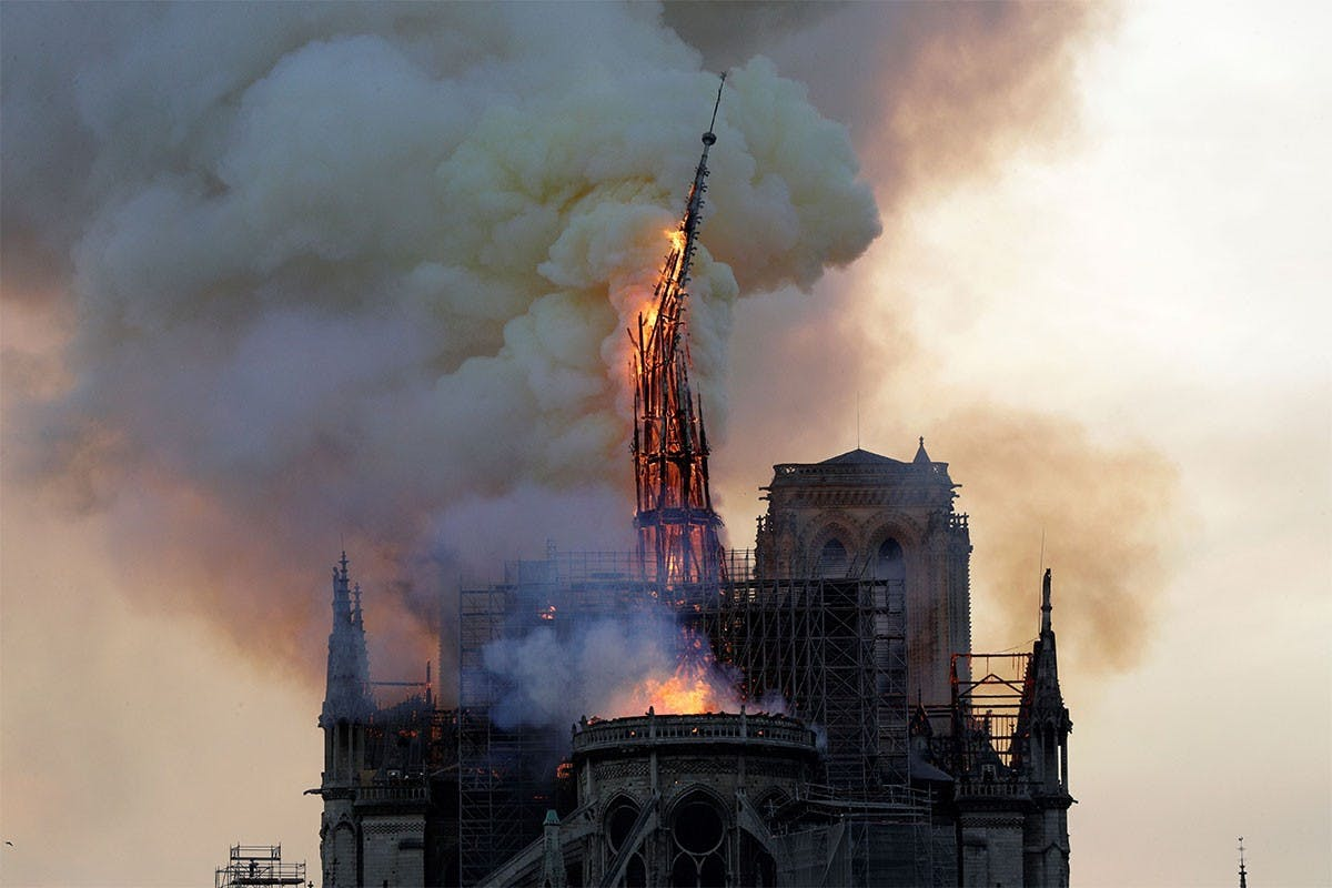 NOTRE DAME: FRANCE TO REBUILD CATHEDRAL'S SPIRE FOLLOWING ORIGINAL DESIGN