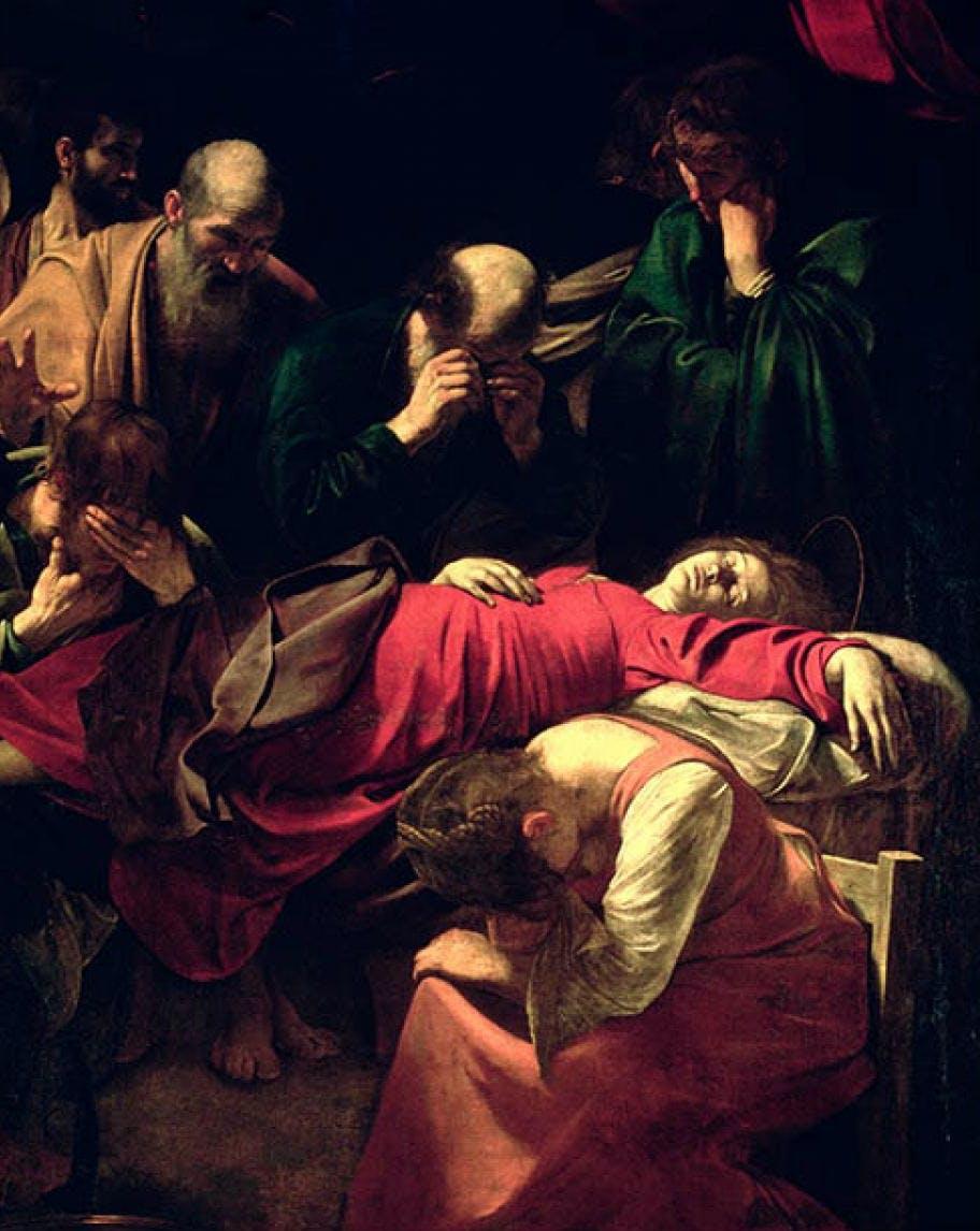 Caravaggio: Morte della Vergine