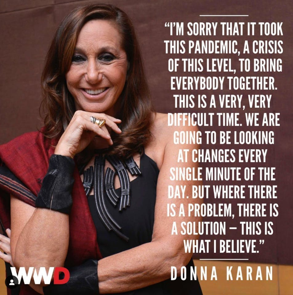 DONNA KARAN'S PREDICTION: TOO-EARLY DELIVERIES WILL RUIN FASHION
