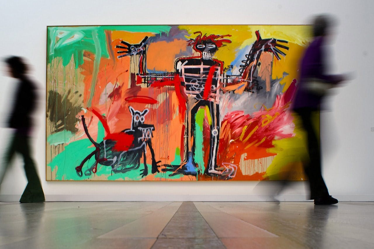 "Jean-Michel Basquiat's ""Boy and Dog in Johnnypump""."