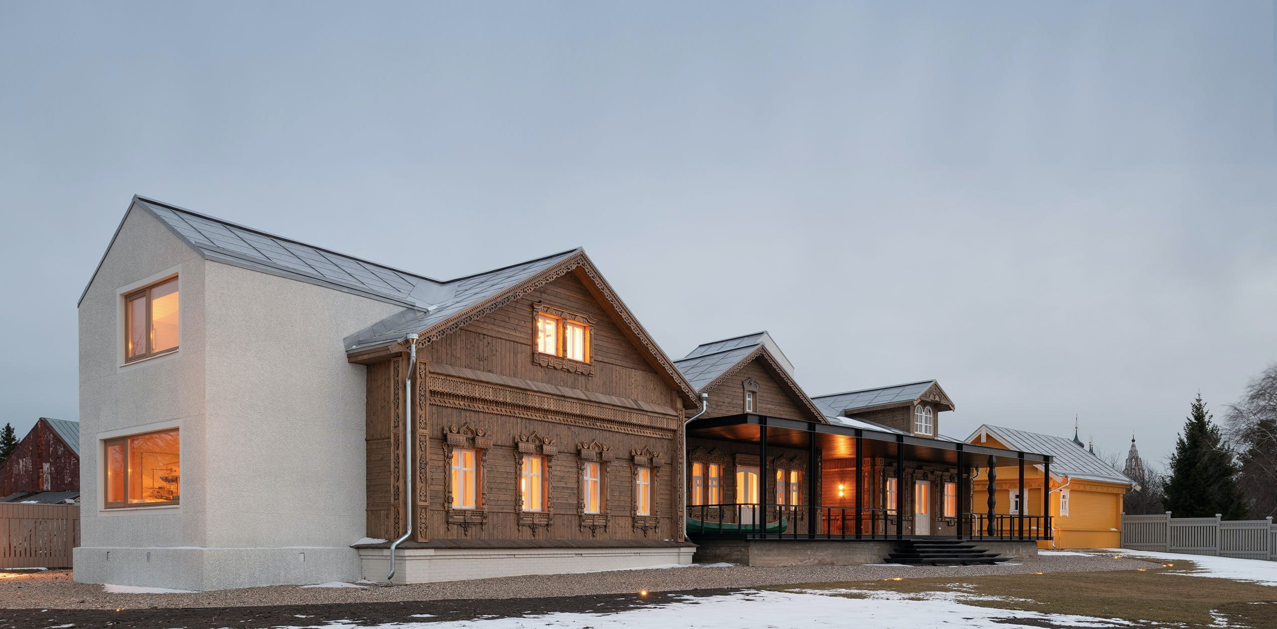 Vernacular Craftsmanship Meets Contemporary Minimalism in a Renovated Dacha in Rural Russia