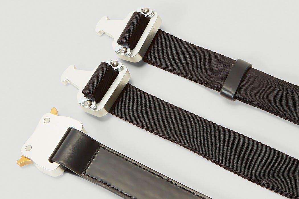 1017 ALYX 9SM double-buckle Rollercoaster belt.