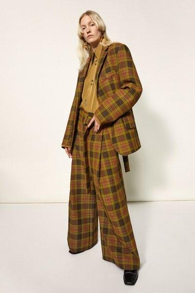 Ellery Kadist Oversized Check Tweed Blazer Jacket Oversized Check Tweed Trousers Fall 19 RTW