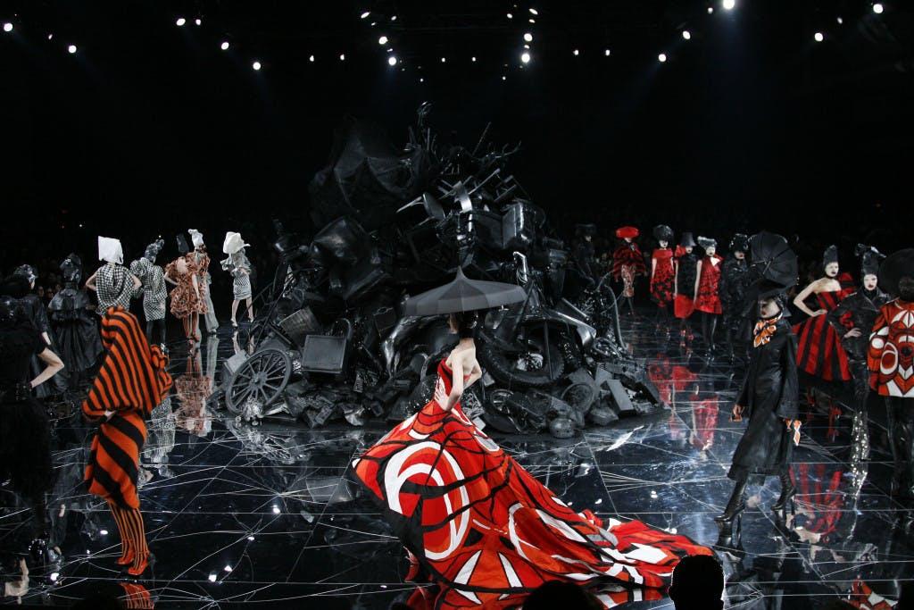 Gareth Pugh fashion show.