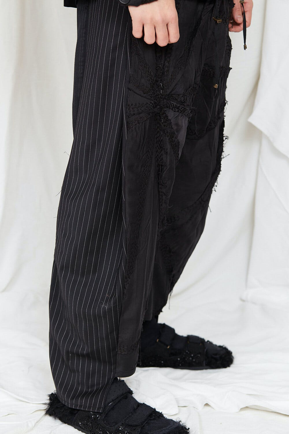 By Walid Campaign Burt Patch Work Trousers AW20
