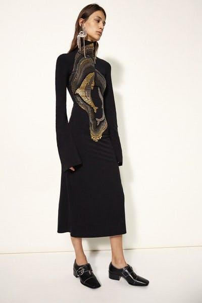 Ellery Turtle Neck Longsleeve Studded Dress Fall 19 RTW