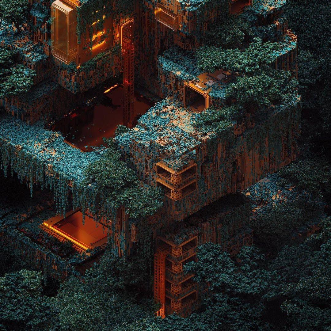 Mari › Mad Maraca › Voxel Artist › Alien Habitats