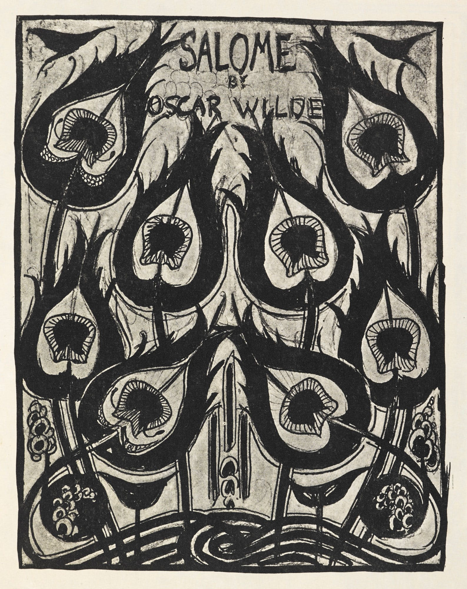 OSCAR WILDE'S PLAY SALOME ILLUSTRATED BY AUBREY BEARDSLEY IN A STRIKING MODERN AESTHETIC (1894)