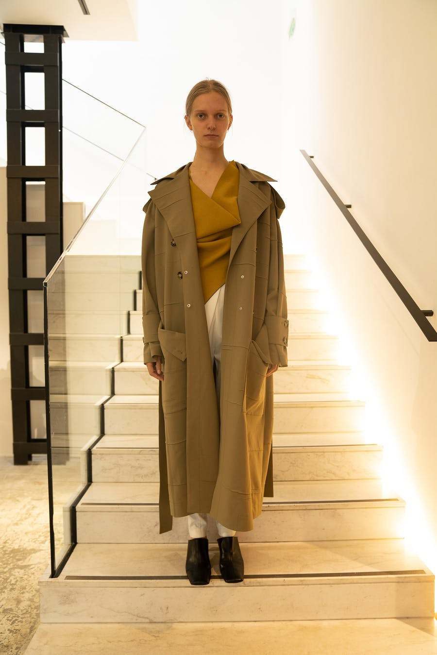 Proenza Schouler Oversized Draped Trench Coat Spring 20 RTW