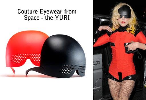 Lady Gaga wearing Mykita x Romain Kremer Yuri Gagarin edition