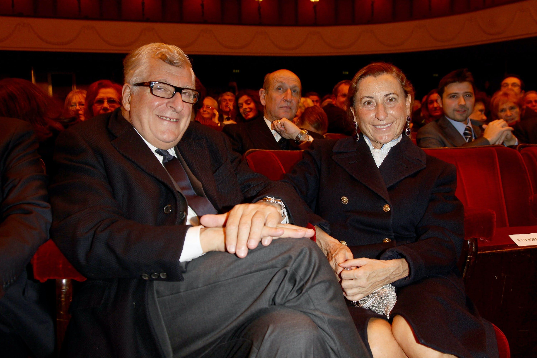 Miuccia Prada and Patrizio Bertelli.