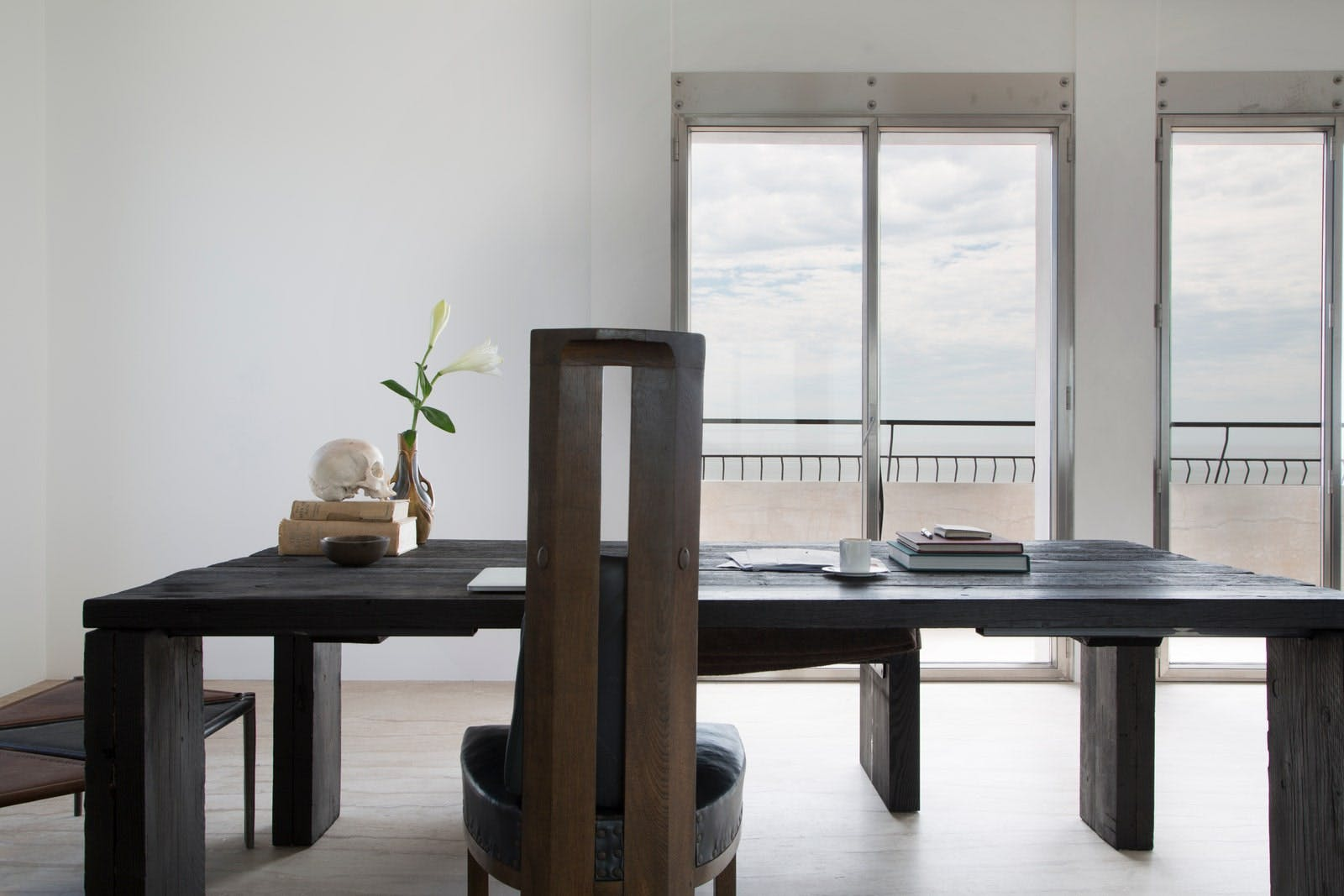 Rick Owens's minimalist house in Venice, Italy - Dining table.