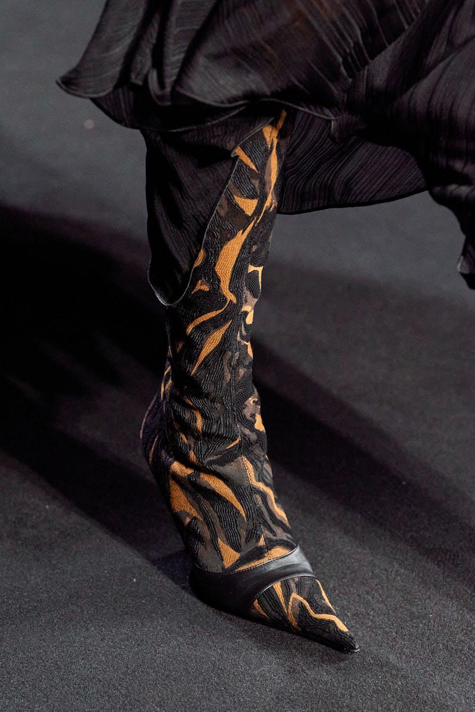 Mugler Runway Details High Print Contrast Boots Fall 20 RTW