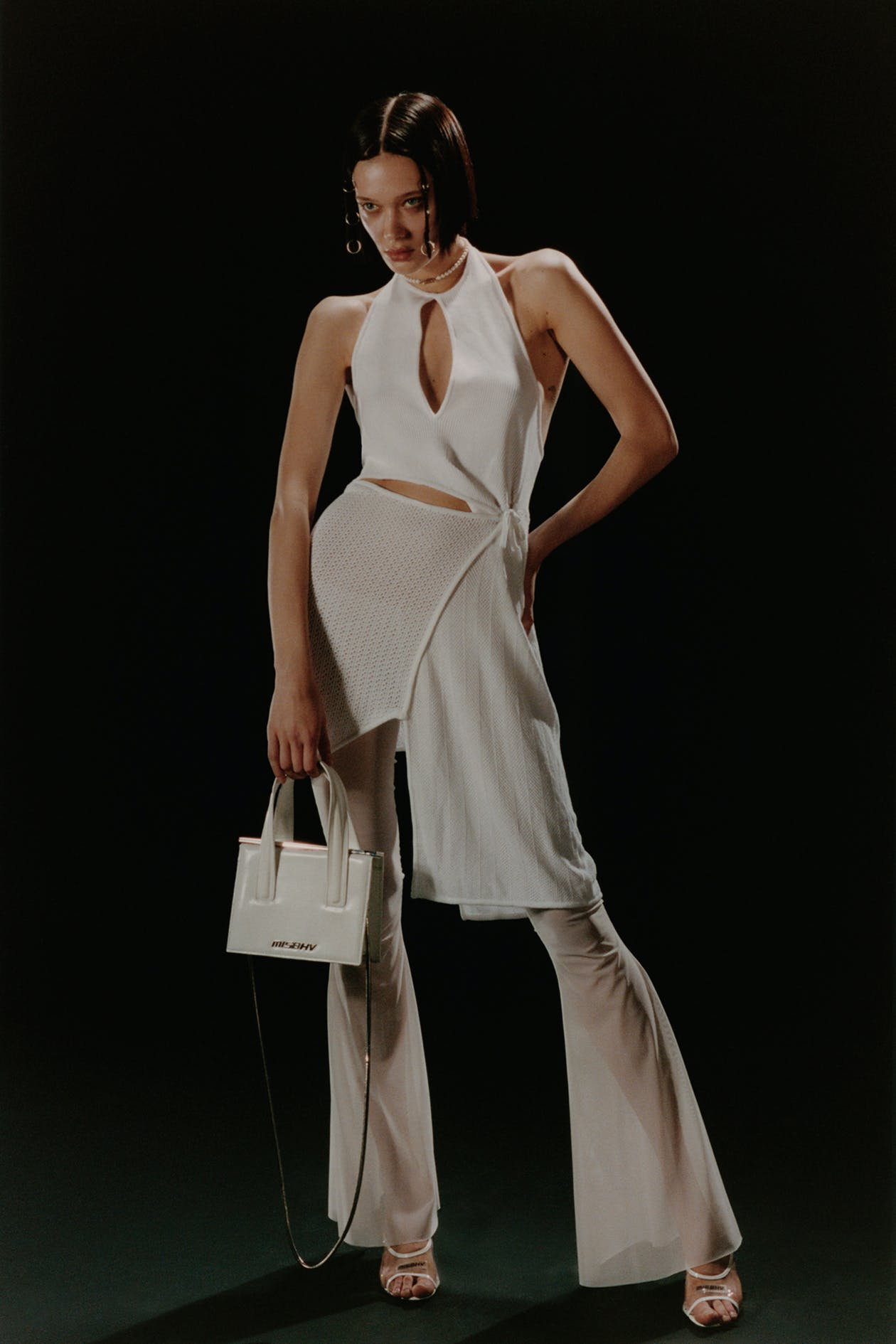 Misbhv Women's Campaign Ibiza Dress in White Flared Sheet Pants SS20