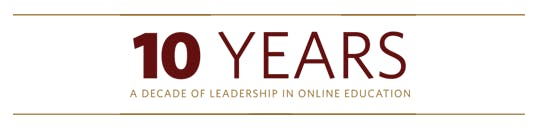 A decade of leadership in online education