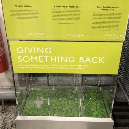 Giving something back at Waitrose