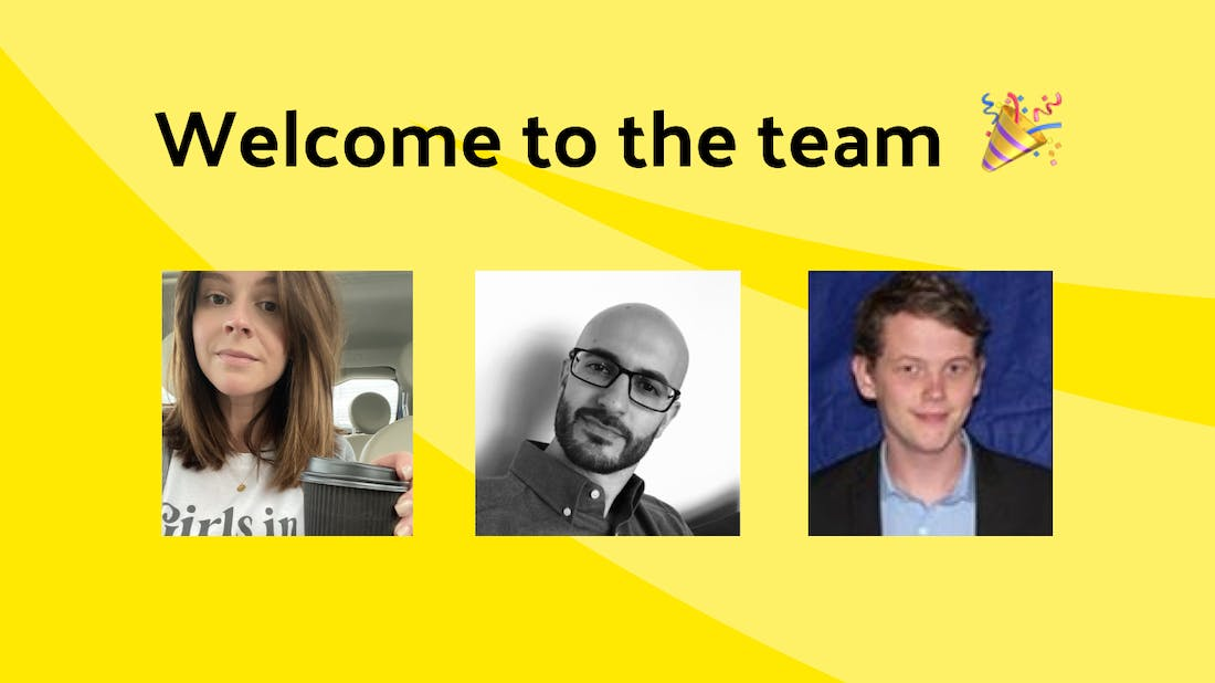 Welcome to the team: Leanne, Amir & Ben