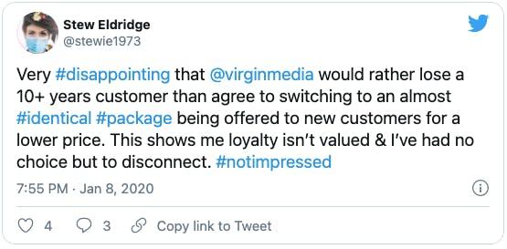 tweet from stew eldridge