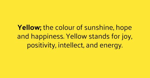 Yellow the colour of the sunshine