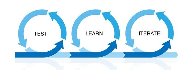 Test, then learn, then iterate.