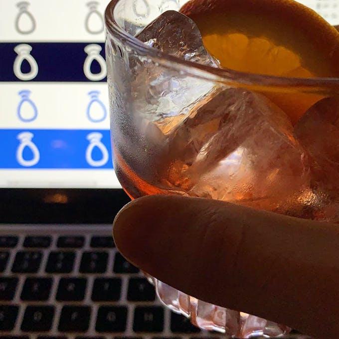 Designing over a drink