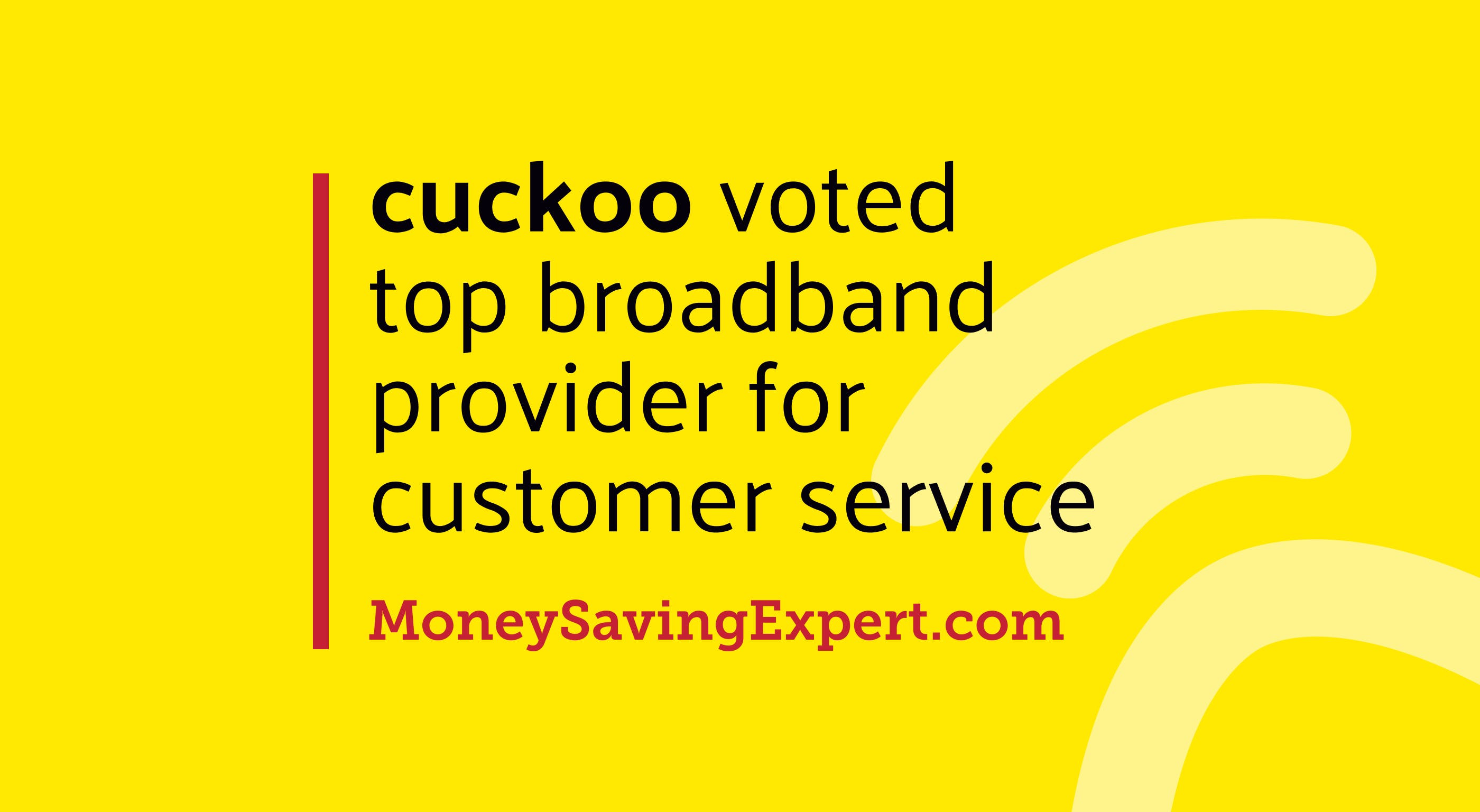 Cuckoo voted top broadband provider for customer service
