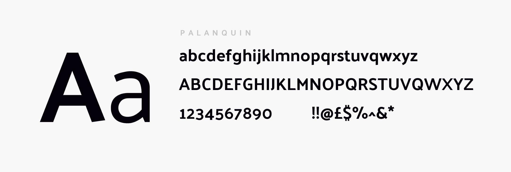 Palaquin typography demo