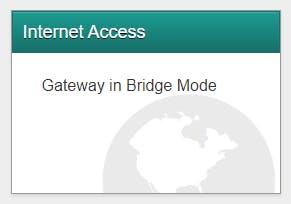 Gateway is in bridge mode
