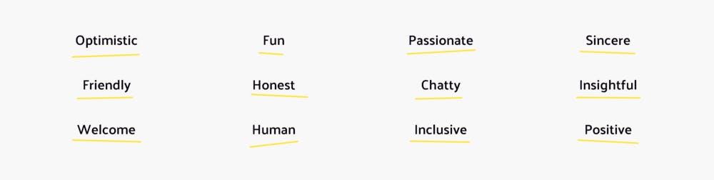 Words that describe Cuckoo. Optimistic, Fun, Passionate.