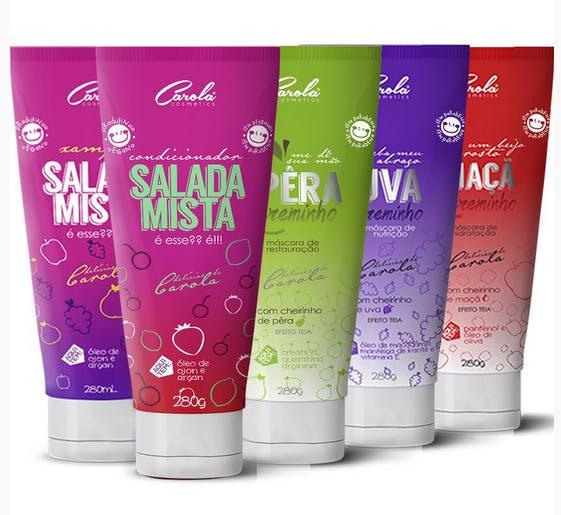 Linha de produtos da Carola Cosmetics