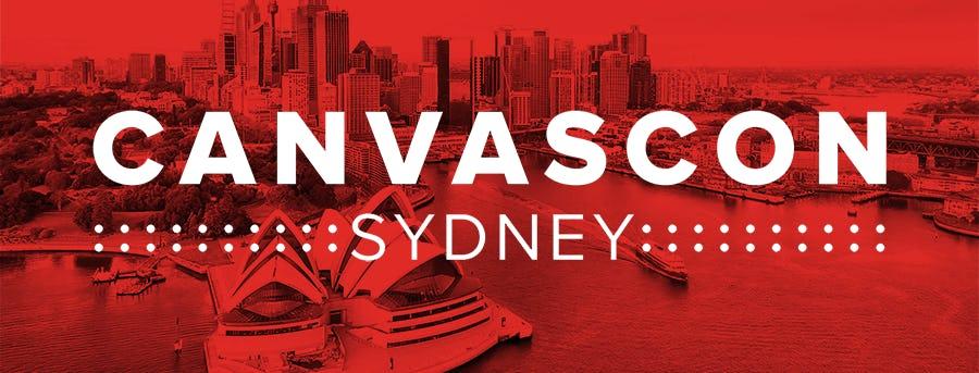 CanvasCon Sydney banner