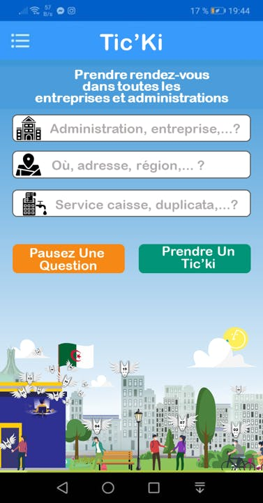ticki mobile app screenshoot