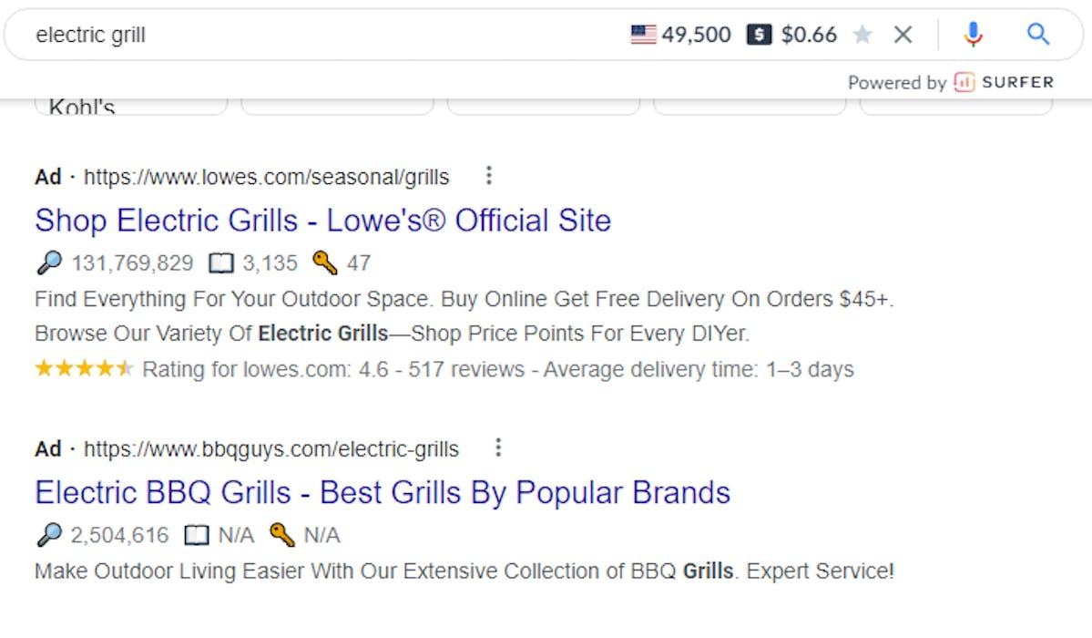 Meta Title Google search