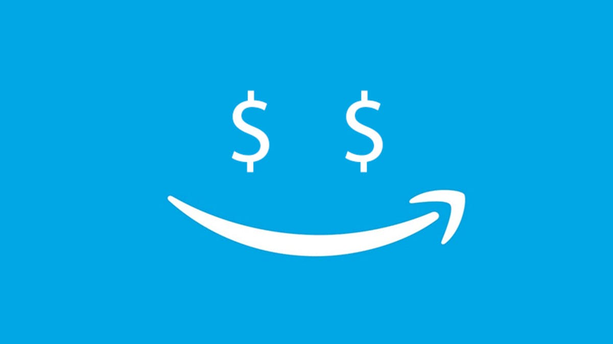 Amazon dollar sign happy DataHawk
