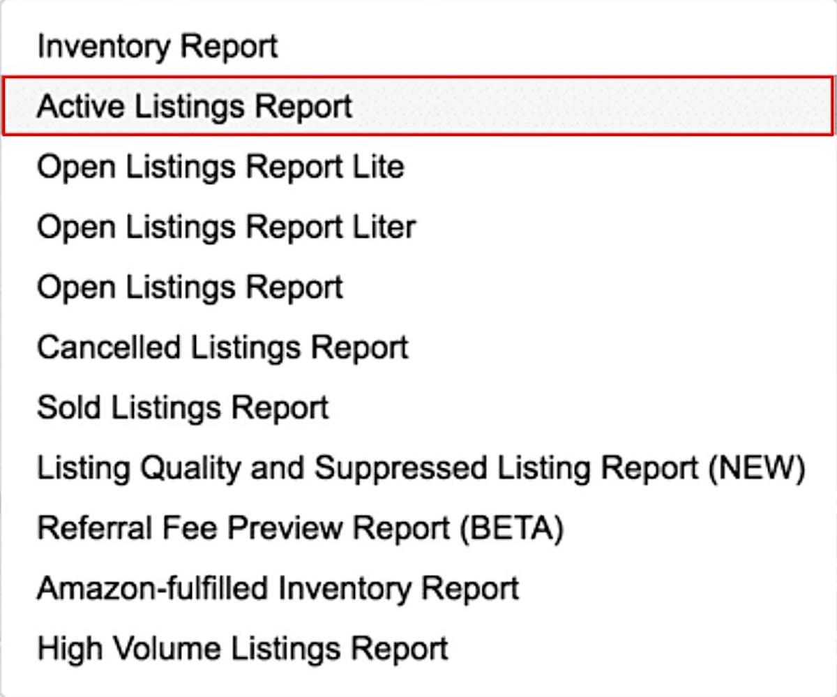 Amazon Inventory Reports