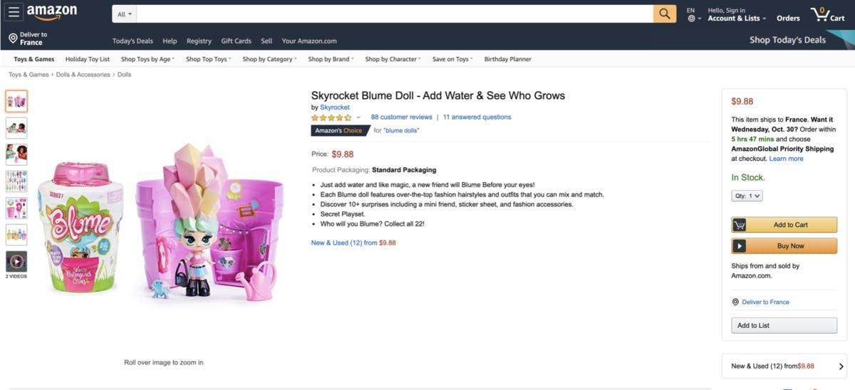 Amazon BSR Study: Toys & Games