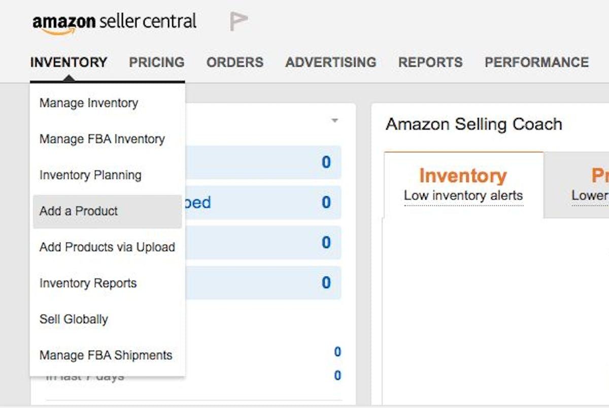 Amazon  seller central account