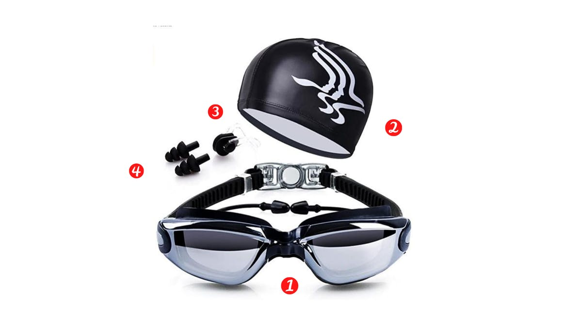 Swimming goggles for amazon bundle